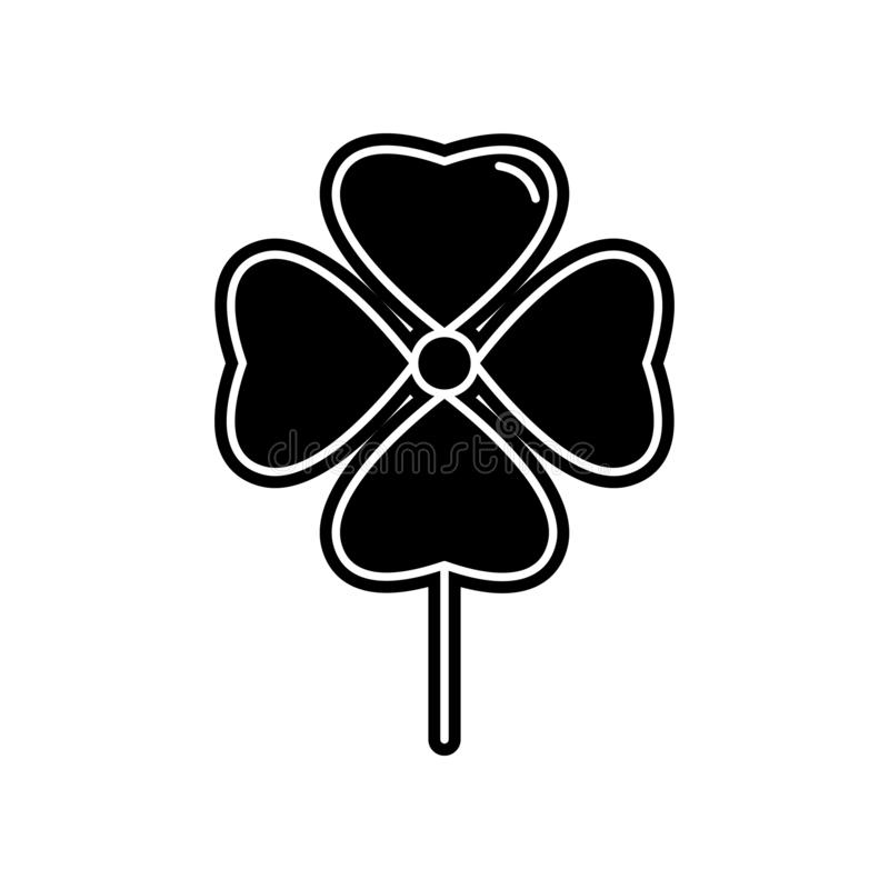 abstract type of clover flowers icon. Element of Flower for mobile concept and web apps icon. Glyph, flat icon for website design stock illustration
