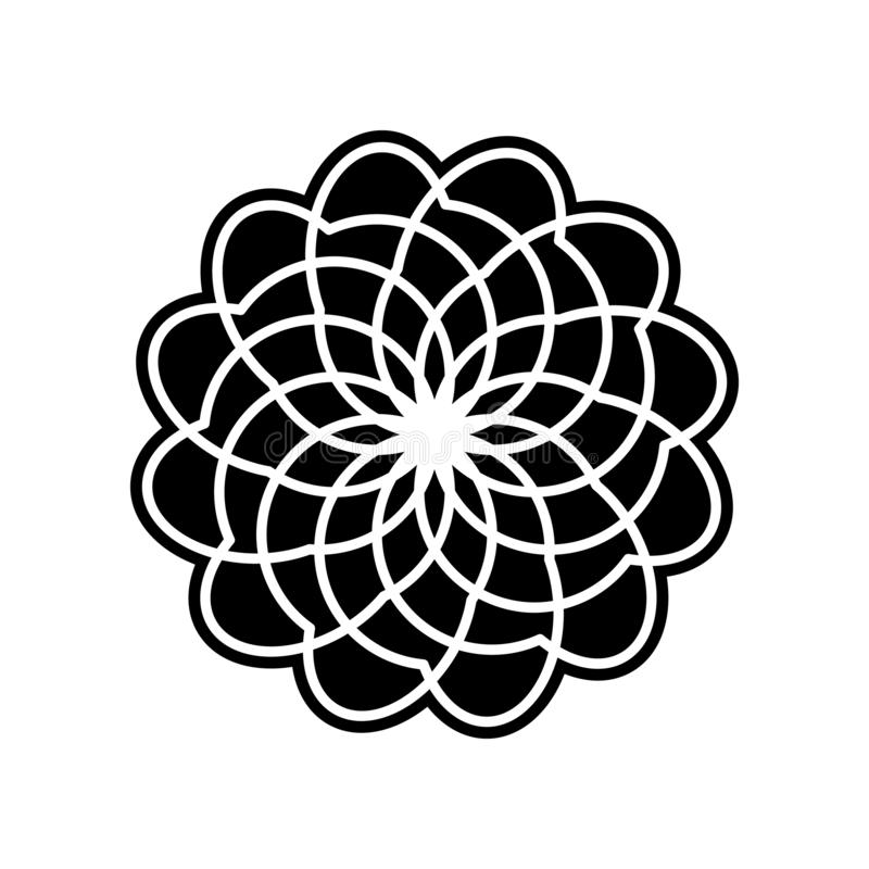 abstract type of flowers icon. Element of Flower for mobile concept and web apps icon. Glyph, flat icon for website design and stock illustration