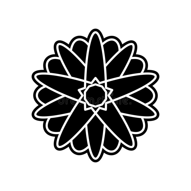 abstract type of flowers icon. Element of Flower for mobile concept and web apps icon. Glyph, flat icon for website design and royalty free illustration