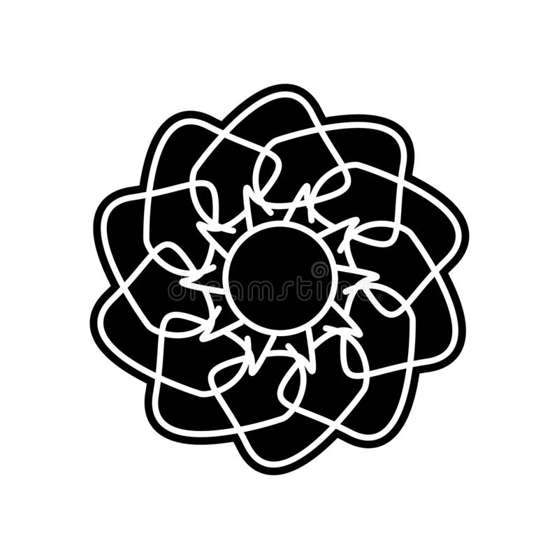 abstract type of flowers icon. Element of Flower for mobile concept and web apps icon. Glyph, flat icon for website design and vector illustration