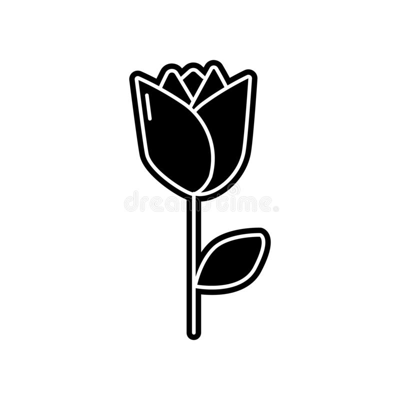 abstract type of rose flowers icon. Element of Flower for mobile concept and web apps icon. Glyph, flat icon for website design royalty free illustration