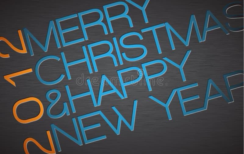 Abstract typography Christmas card. Season words stock illustration