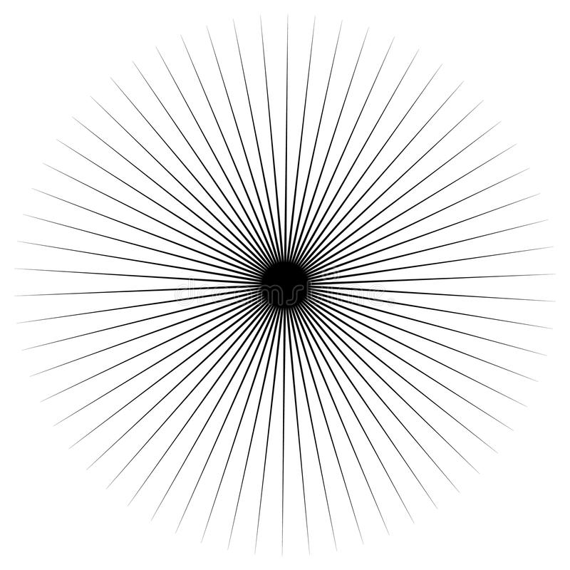 Abstract uitstralend stekelig element Radiale vorm vector illustratie