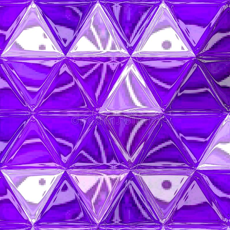 Abstract ultra violet crystals pattern design royalty free stock photos