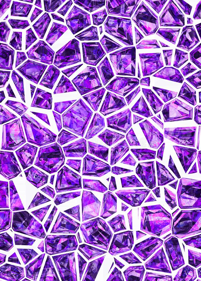 Abstract ultra violet crystals pattern. Design. High quality, detailed elements ready for print vector illustration