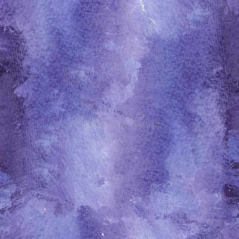 Abstract ultra violet watercolol background with stains and splashes royalty free illustration