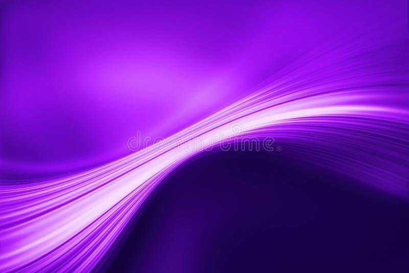 Abstract ultraviolet dynamisch golfontwerp stock illustratie