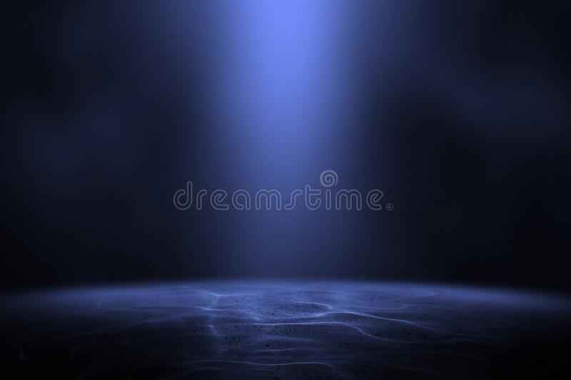 Abstract underwater background. In the sea stock image