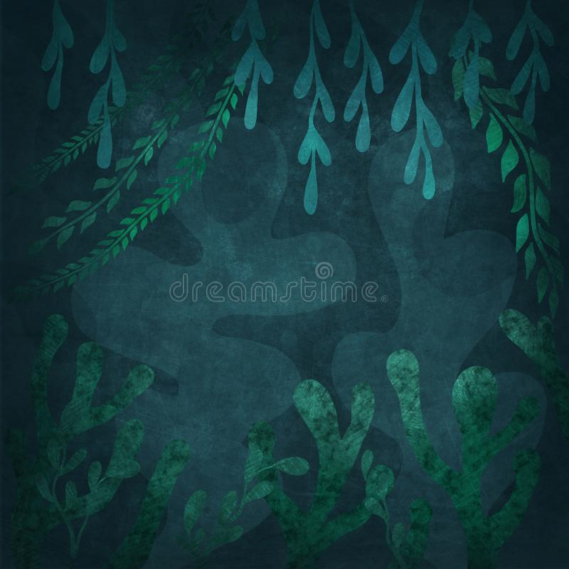 Abstract underwater background. Illustration of a abstract underwater background vector illustration