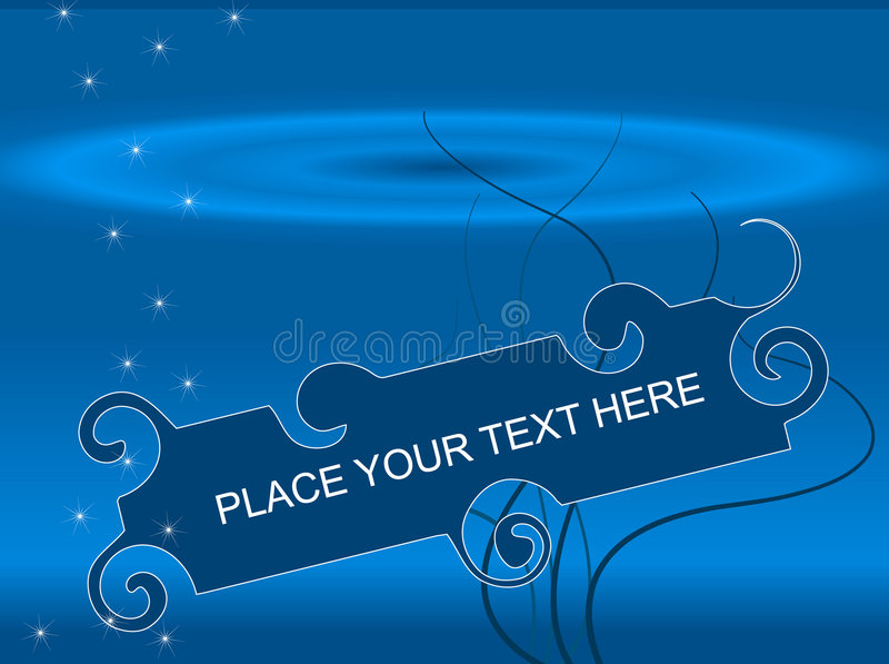 Download Abstract Underwater Or Cosmic Frame Stock Vector - Image: 7183822