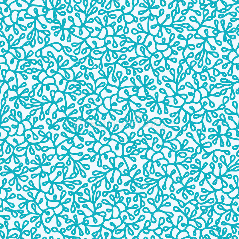 Abstract Underwater Plants Seamless Pattern Stock Photography