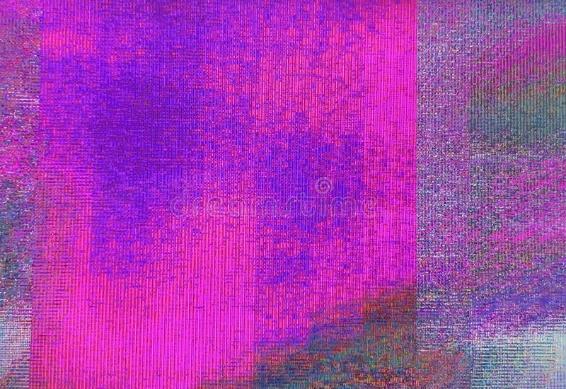 Abstract Unique Design Glitch Digital Pixel Noise. Glitch Texture Error camera Damage broadcast glitch. Abstract technology. Background stock image