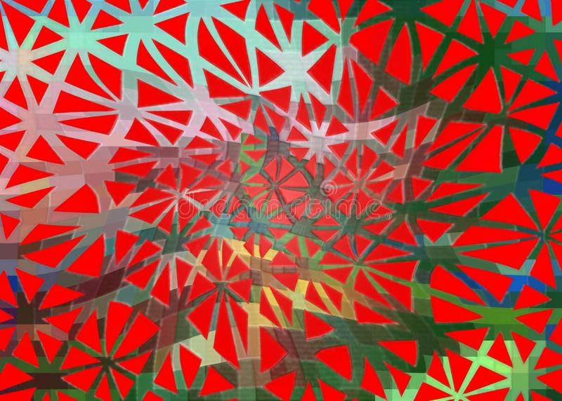 Colored lattice on a red background. royalty free stock images