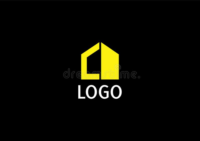 Abstract Universal house logo design template stock illustration