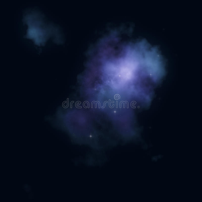 Abstract universe - blue mysterious space nebula stock images