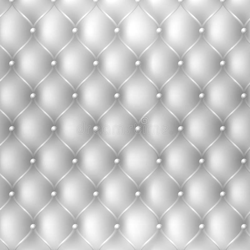 Abstract upholstery fabric texture background in white color royalty free illustration