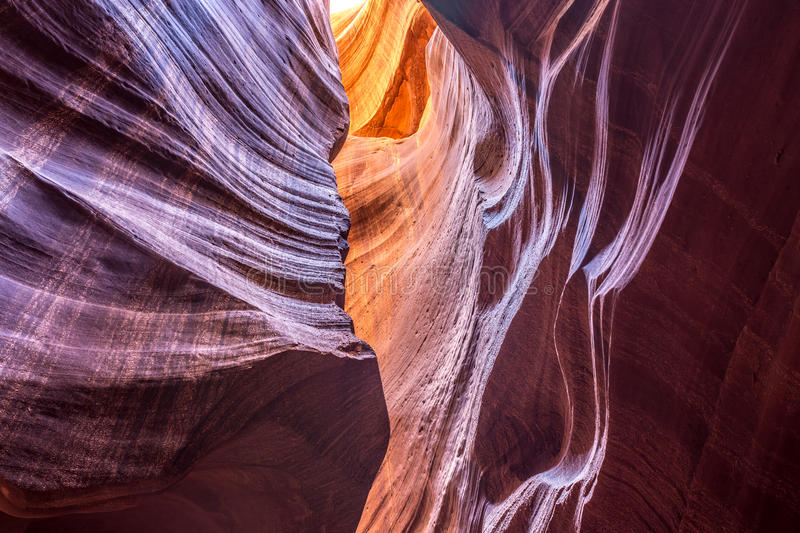 Abstract Upper Antelope Canyon royalty free stock photos