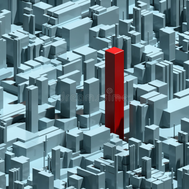 Abstract urban background and individuality stock illustration