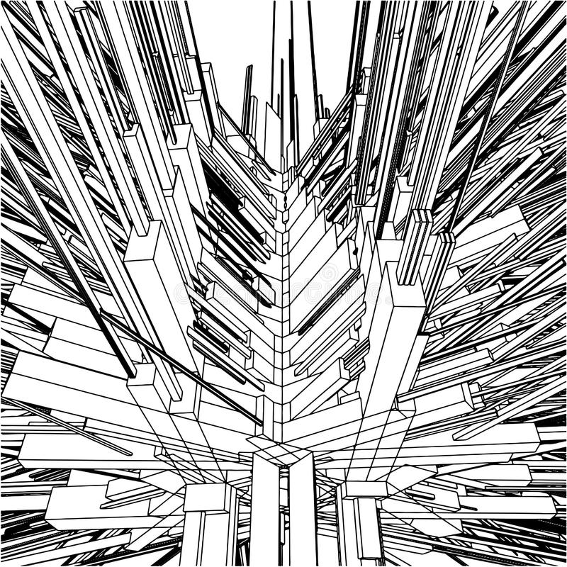 Download Abstract Urban City Building In Chaos Vector 169 Stock Vector - Image: 19954173