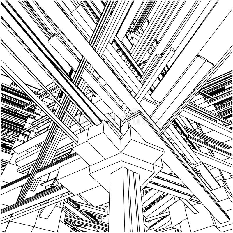 Download Abstract Urban City Buildings In Chaos Vector 153 Stock Vector - Image: 19634368