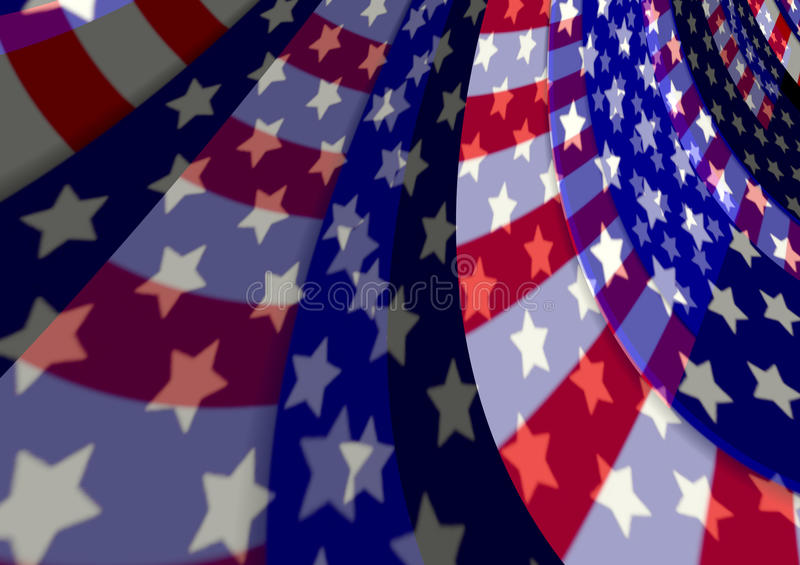 Abstract USA American flag patriotic flowing background. Abstract Flowing American Flag Elements stock illustration