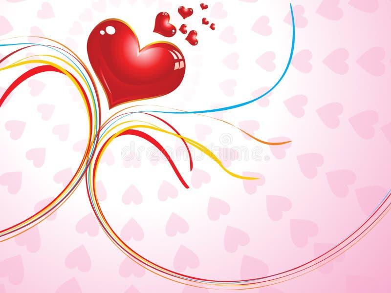 Abstract valentijnskaartconcept royalty-vrije illustratie