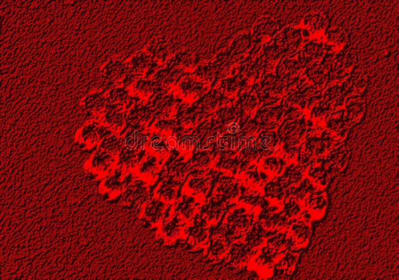 Abstract valentijnskaarthart met geweven achtergrond stock foto