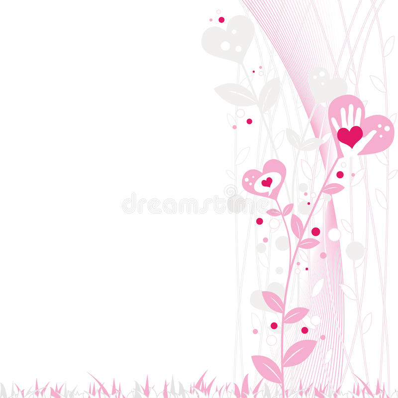 Abstract Valentine's Design royalty free illustration
