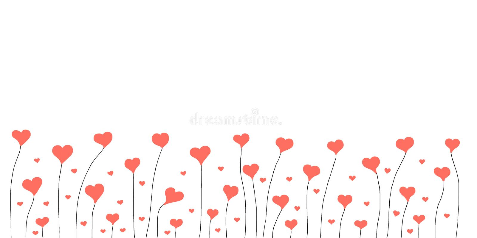Abstract Valentine Background With Hearts stock photos