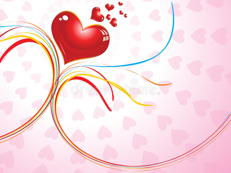 Abstract valentine concept royalty free illustration