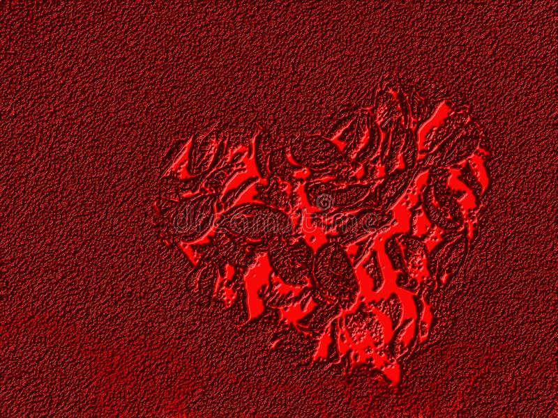 Abstract valentine heart with textured background. Many uses for paintings,printing, book,covers,screen savers,web page,logo,mono, greeting cards,letter head royalty free stock photo