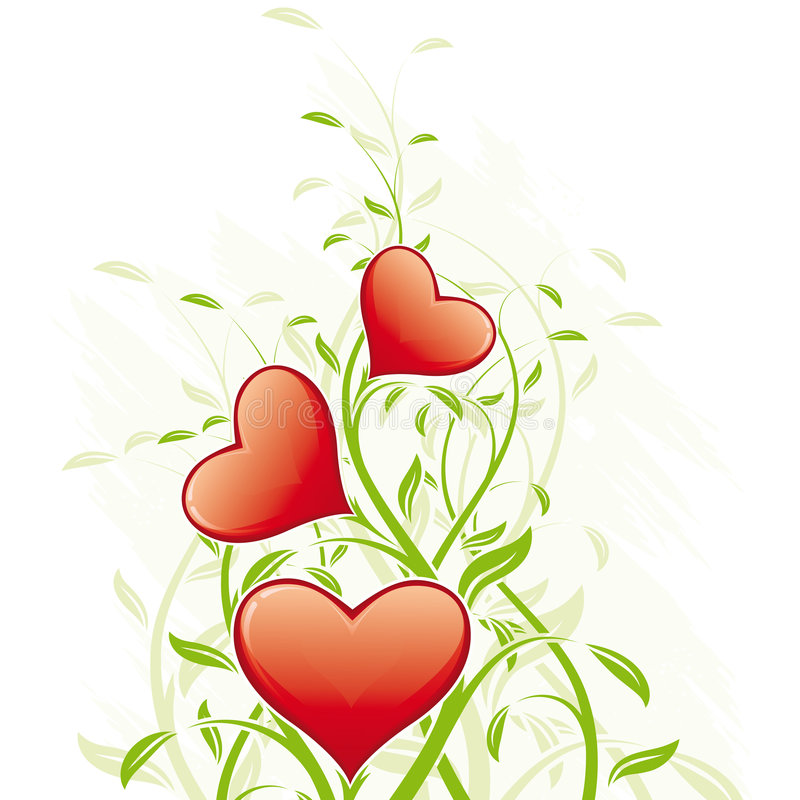 Download Abstract Valentine's Day Hearts Stock Vector - Image: 7323989