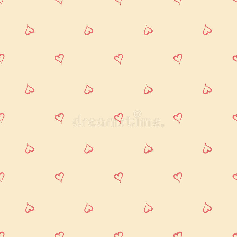 Abstract Valentine`s Day hearts. Seamless background for your design. Vector illustration. Love concept. Cute wallpaper. Good idea royalty free illustration