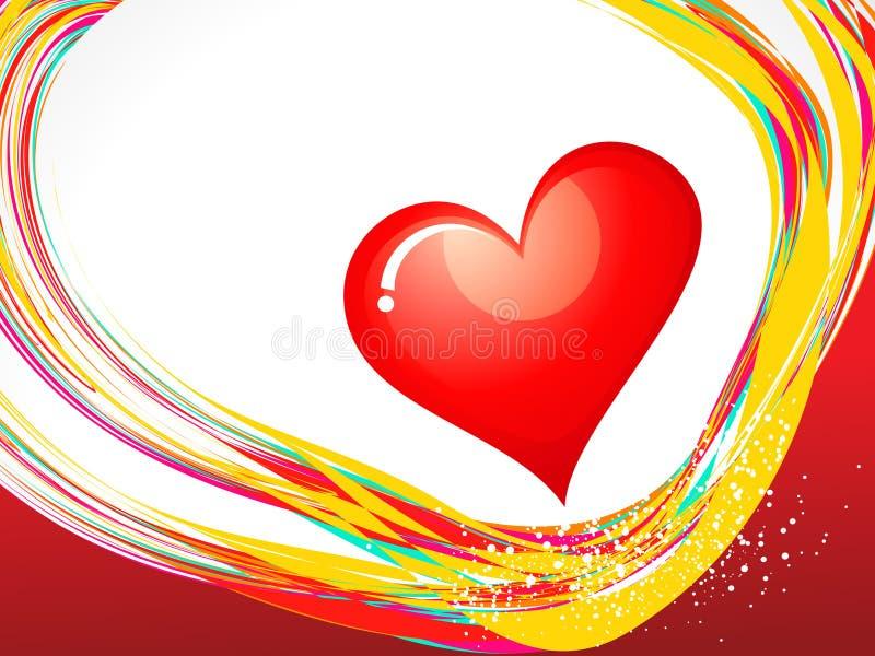 Abstract valentine wallpaper stock illustration