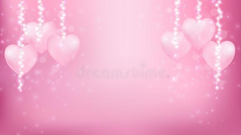 Abstract valentines background as romantic moment vector illustration