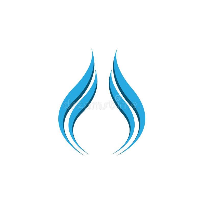 Abstract van de bedrijfs waterdaling embleem op witte achtergrond vector illustratie