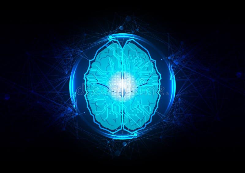 Abstract vector artificial neuralnetwork  concept design. technology  background design. Virtual concept. illustration vector. Design royalty free illustration