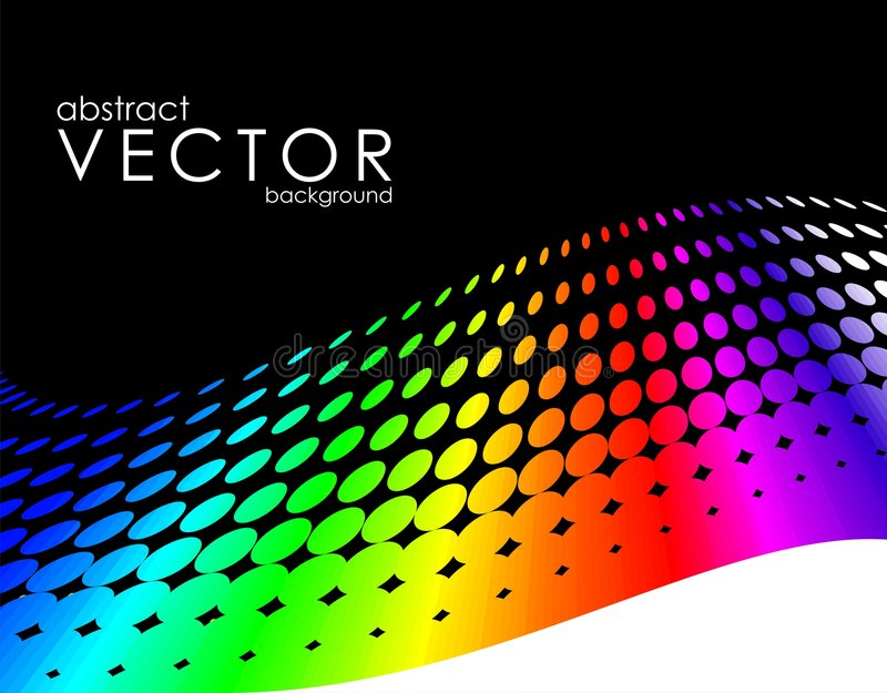 Abstract vector background. With rainbow circle pattern and text space stock illustration