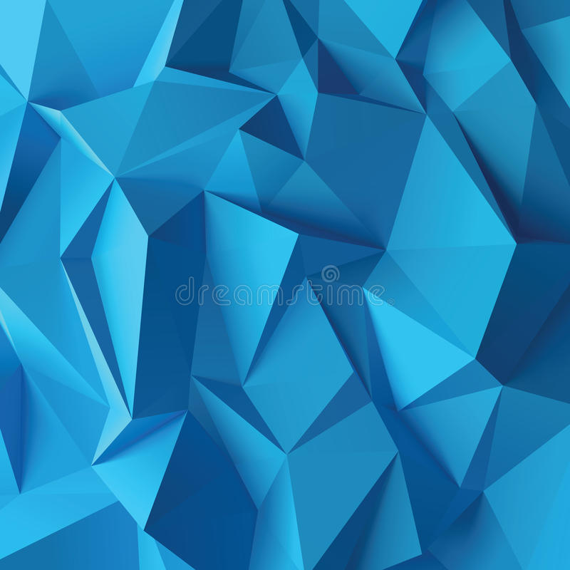 Abstract vector background. Blue 3d abstract background, vector illustration royalty free illustration