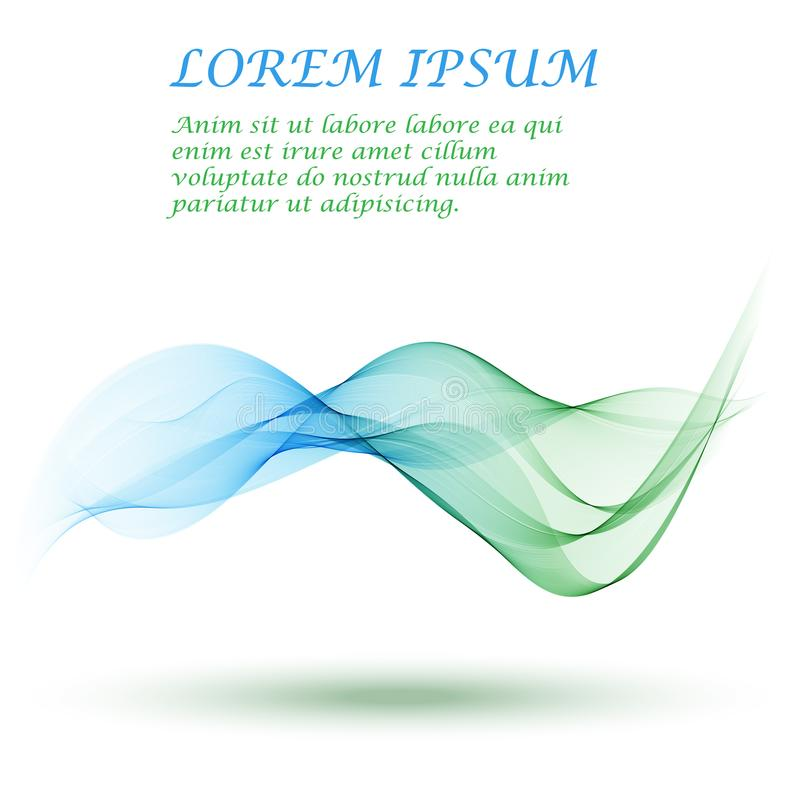 Abstract vector background, blue and green waved lines for brochure, website, flyer design. stock illustration