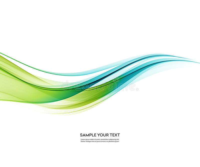 Abstract vector background, blue green wavy royalty free illustration