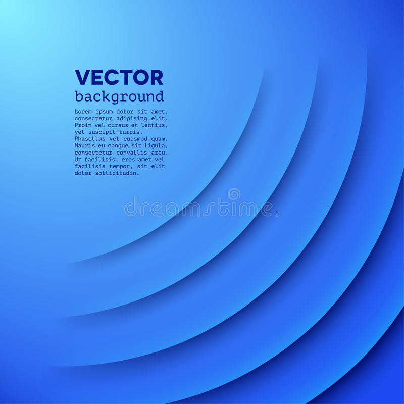 Abstract vector background with blue layers vector illustration