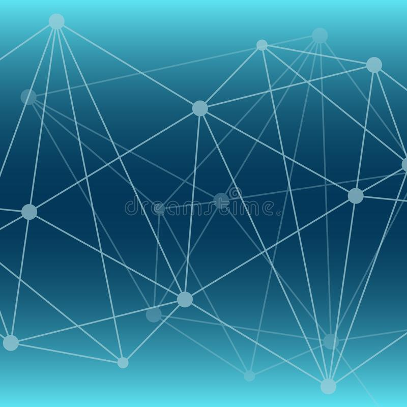 Abstract vector background. Blue polygonal network pattern. Illustration for science, technology, neural, structure, net vector illustration