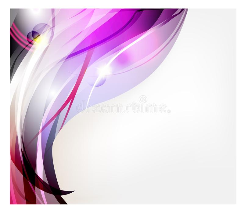 Abstract vector background. Bright curved waves for advertising. Glowing lines.  royalty free illustration