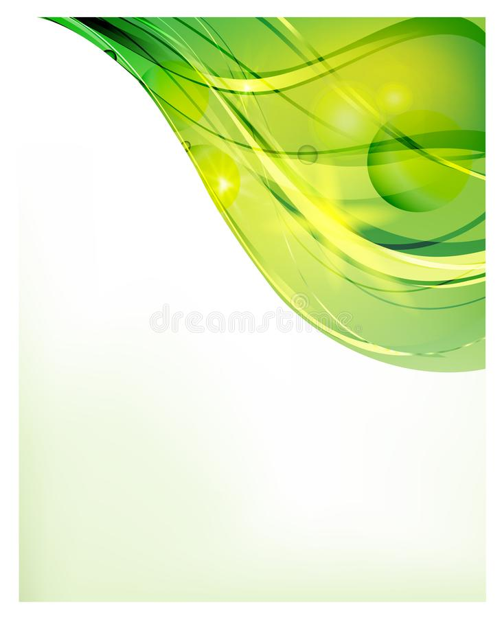 Abstract vector background. Bright curved waves for advertising. Glowing lines.  vector illustration