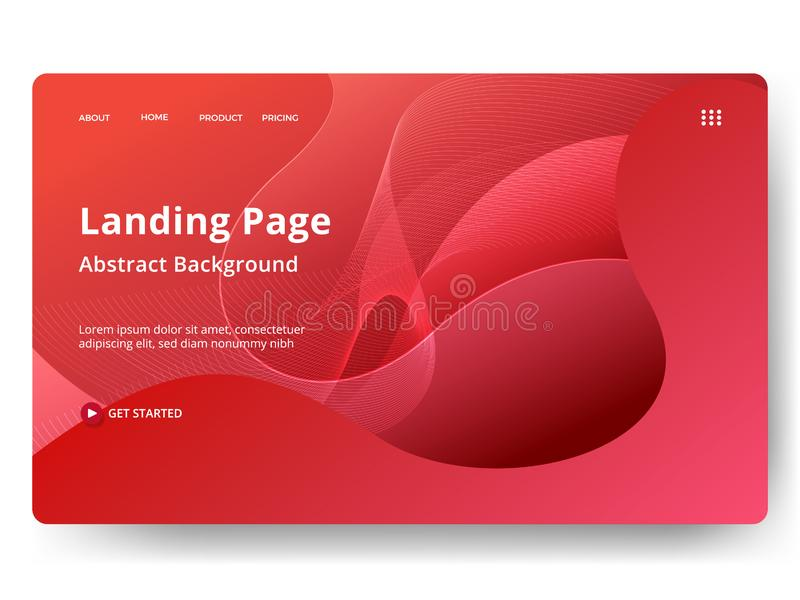 Abstract vector background, can be used for landing pages, web, ui, banners, templates, flyer, posters. Modern style vector illustration