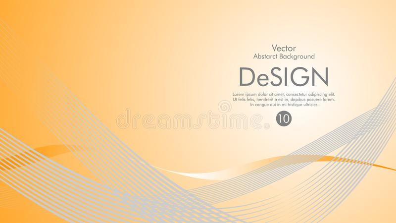 Abstract vector background, color flow waved lines . stock vector. Grey movement motion dynamic graphic design element white banner fractal backdrop creative stock illustration
