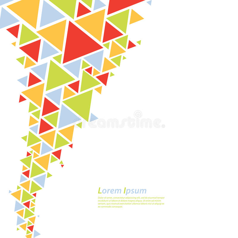 Abstract vector background. Colorfully triangle flow - twister. stock illustration