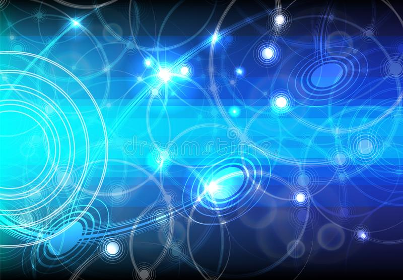 Abstract vector background. Futuristic style card. royalty free illustration