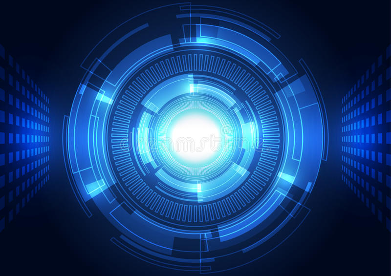Abstract vector background. Futuristic technology style. royalty free illustration